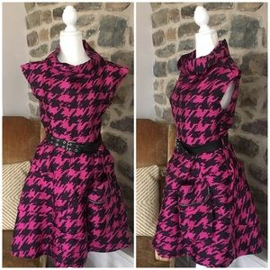 Marc Jacobs Scribble Houndstooth Dress Pink